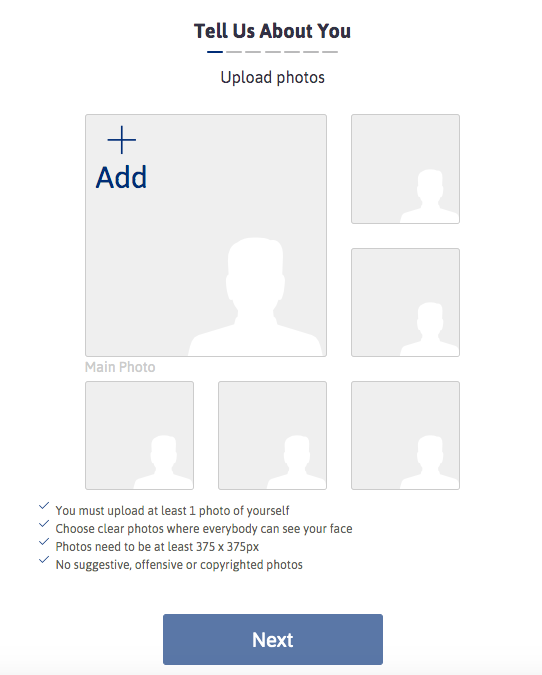 signup upload photos
